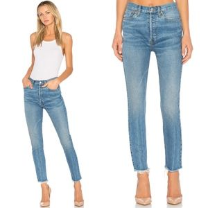 Re/Done Originals Levi's High Rise Ankle Crop Jean